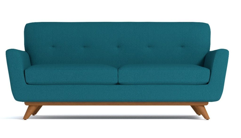 Carson Apartment Size Sofa, Biloxi Blue