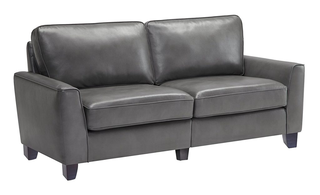 "Serta CR46761 RTA Astoria Coated Fabric Sofa, 73"", Graphite Gray color"