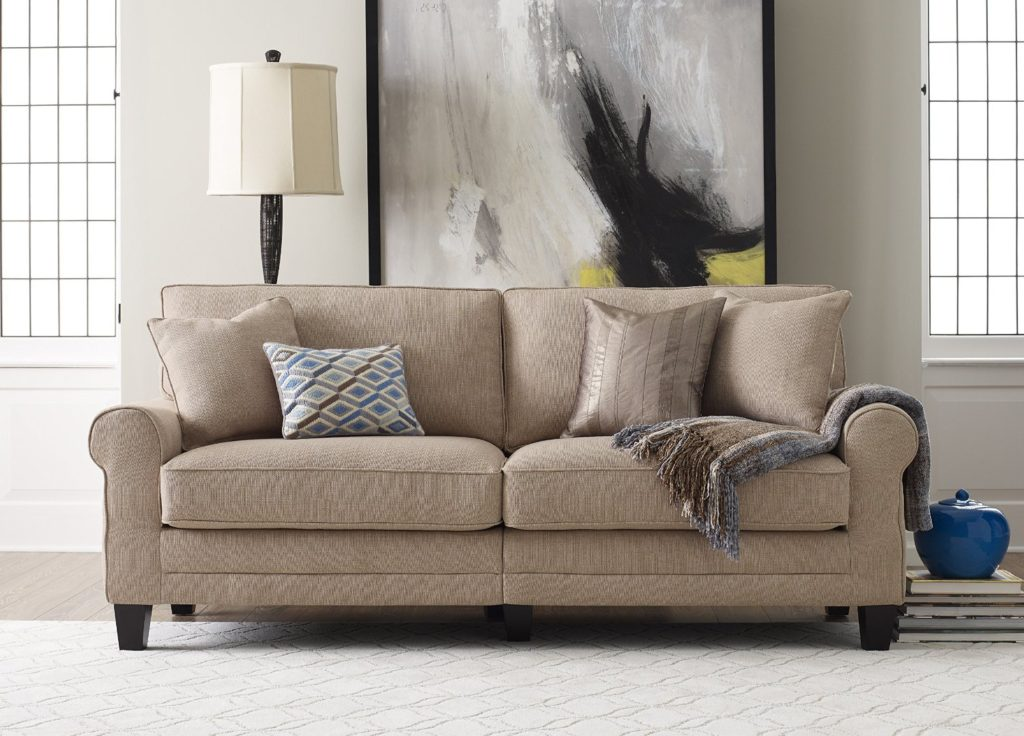 "Serta RTA Copenhagen Collection 78"" Sofa in Marzipan, CR43541PB"